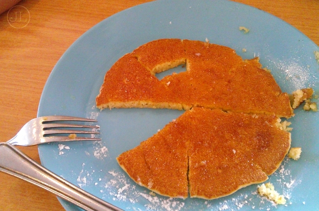 "It's a ""Pacman Pancake"", courtesy of Alvin."